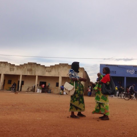 On our way to school site visits outside of Kigali.