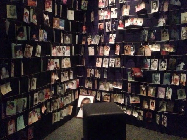 A time of reflection at the Genocide Memorial.