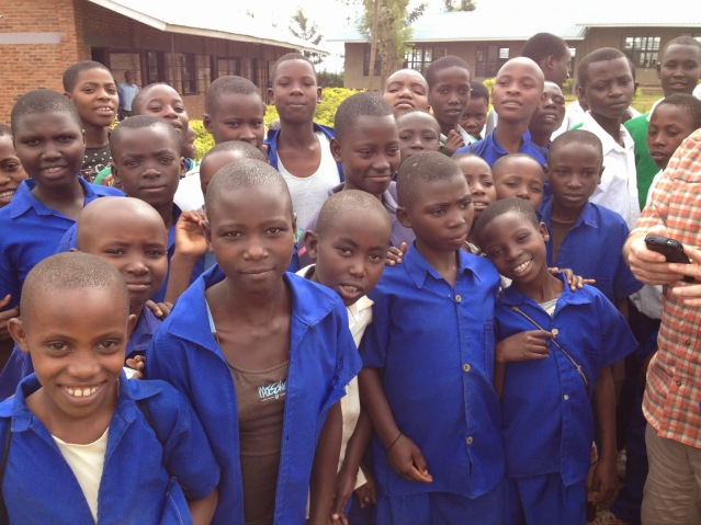 Students at second school site visit.
