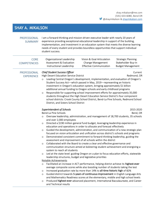 Shay Mikalson Resume- HDESD 1