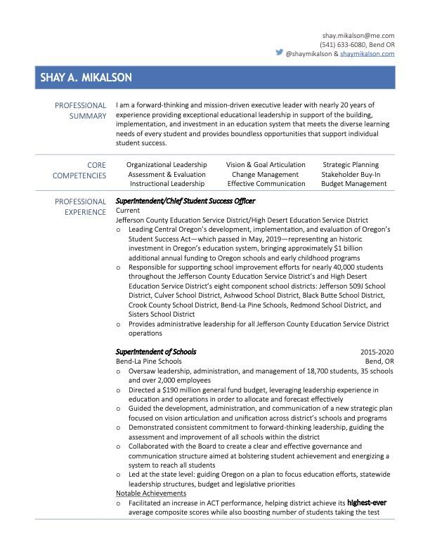 Shay Mikalson 2021 Resume- JCESD:HDESD